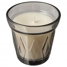 شمعة معطرة في كأس حلويات مالحة, رمادي