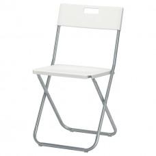 كرسي قابل للطي ابيض