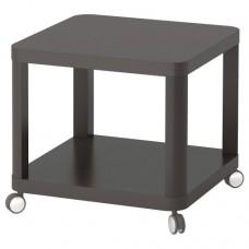 طاولة جانبية على عجلات لون رمادي