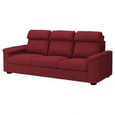 صوفا 3 مقعد, لون أحمر/بني