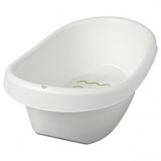 حوض استحمام طفل لون أبيض وأخضر