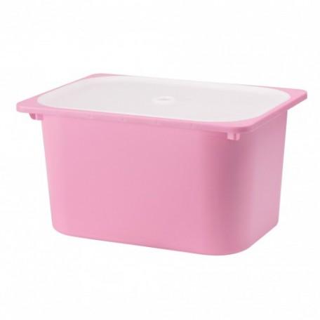 صندوق مع غطاء لون زهري