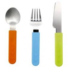 طقم أدوات تناول الطعام مكون من 3 قطع