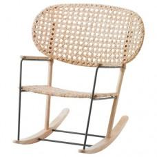 كرسي هزاز رمادي طبيعي
