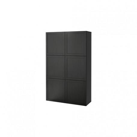تشكيلة تخزين مع أبواب لون أسود بني