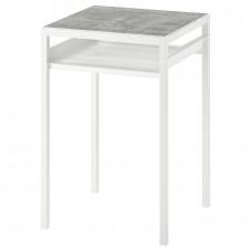 طاولة جانبية بسطح مزدوج بلونين