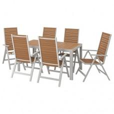 طاولة + 6 كراسي قابلة للتعديل
