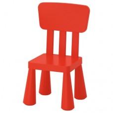 كرسي أطفال داخلي/خارجي لون أحمر