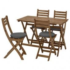 طاولة + 4 كراسي قابلة للطي