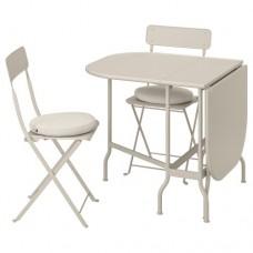 طاولة قابلة للطي + كرسيين