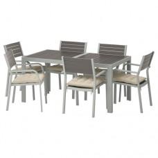طاولة + 6 كراسي بمقابض