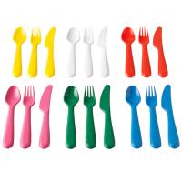 طقم أدوات تناول الطعام  18 قطعة ألوان متجانسة (6 معالق+6 شوك+6 سكاكين)
