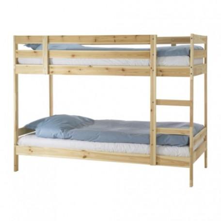 سرير طابقين للاطفال من الصنوبر 90*200 سم