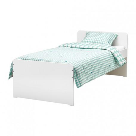 سرير لون ابيض 90x200 سم