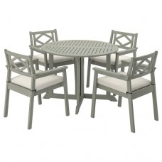 طاولة + 4 كراسي بمقابض