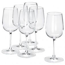 كأس زجاج شفاف 6 قطع
