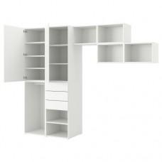 خزانة ملابس مع بابين+3 جوارير لون أبيض