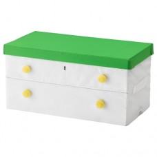 صندوق مع غطاء لون أخضر وأبيض