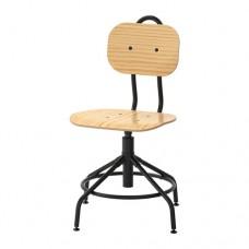 كرسي دوار صنوبر/أسود
