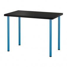 طاولة مكتب لون ازرق وفنجا حجم 100x60 سم