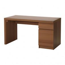 مكتب قشرة خشب دردار طلاء بني 140x65  سم
