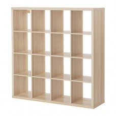 وحدة رفوف 4*4 فتحات لون خشبي او ابيض او بني-اسود