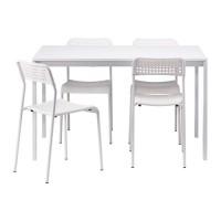 طاولة و4 كراسي لون أبيض